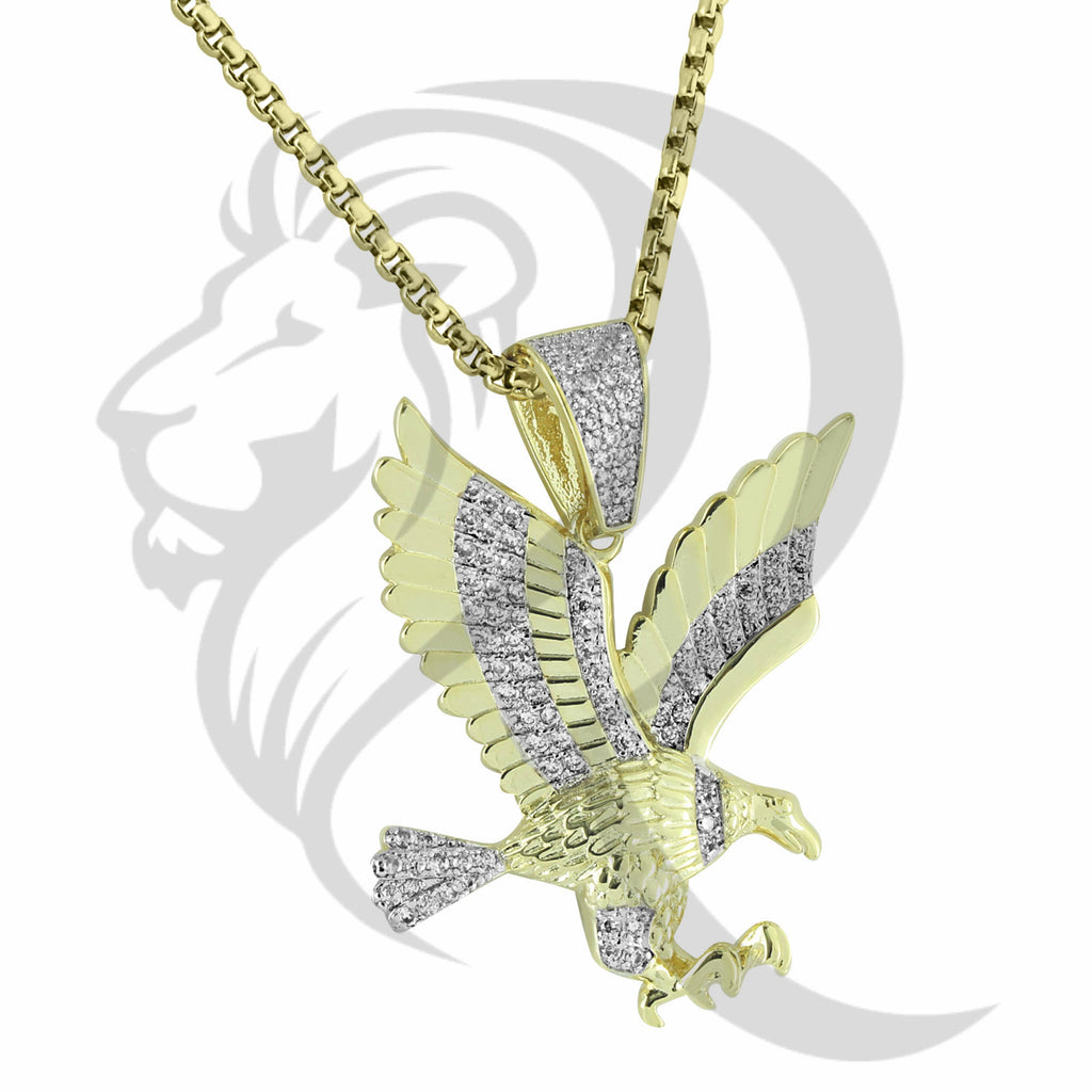 IcedOut Flying American Eagle Bird Animal Pendant