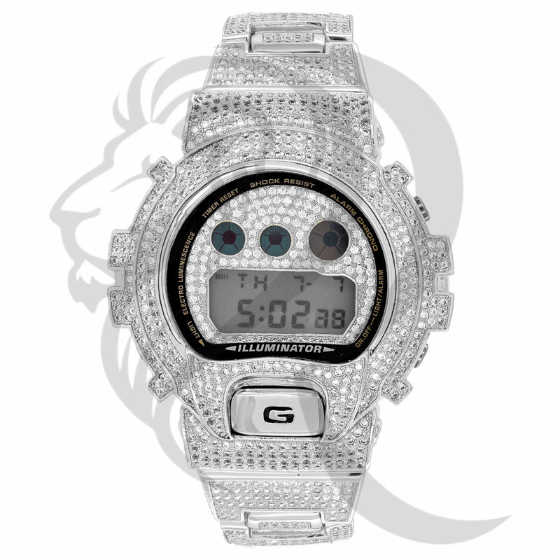 DW6900, G-Shock, G Shock Watch, icedout watch, custom watch, wholesale jewelry, wholesale jeweler, hiphop jewelry, hiphop, fashion, mens watch, Jewelry, mens fashion, gshock, lab diamonds, CZ, CZ Watch