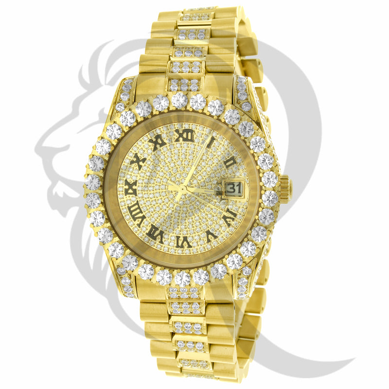 rolex, rolex watch, rolex style, 42mm, diamond watch, mens watch, custom watch, hiphop, stainless steel watch, luxury watch, jewelry, honeycomb setting, icebox, custom watch, custom jeweler, presidential, presidential watch, jubilee band,  stainless steel watch