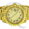 40MM Canary Roman Dial Solitaire Stainless Steel Presidential Watch