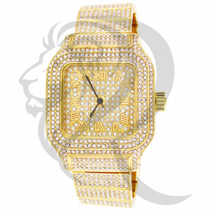 40MM Square Face IcedOut Men's Techno Pave Quartz Watch