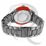 Red Dial 47MM Black Gold Tone Watch
