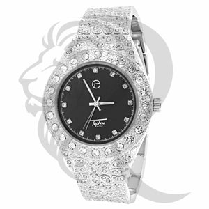 Black Dial Nugget Style IcedOut Men's Watch