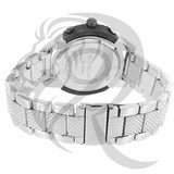 Black & White Gold Tone Plain 47MM Watch