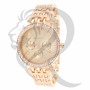 Rose Gold Rose Dial Watch