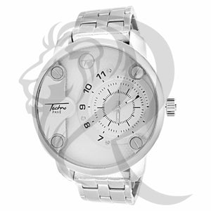 52MM White Gold Tone Plain Watch