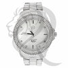 47MM 2 Row IcedOut Bezel White Men's Watch