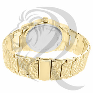 Yellow 43MM Masonic Nugget Style Watch