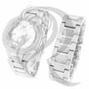 48MM Plain Dial IcedOut Face Techno Pave Watch Bracelet Combo Set