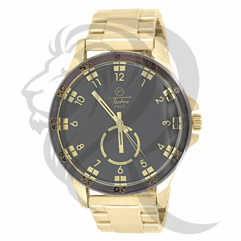Yellow Band 48MM Black Dial Men's Watch