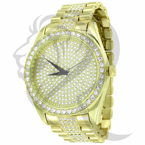 45MM Round IcedOut Face Men's Techno Pave Watch