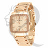 Rose Gold Tone 35MM Men's Metal Watch