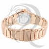 Plain Rose Gold White Dial Watch