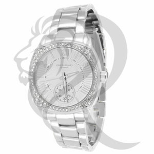 All White 38MM IcedOut Bezel Milano Watch