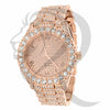 44MM Solitaire Rose Gold IcedOut Men's Watch