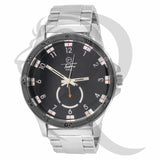 48MM Black Dial Plain White Men's Watch