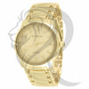 Plain Yellow Gold Tone 41MM Men's Watch