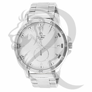 White Tone 48MM Men's Techno Pave Watch