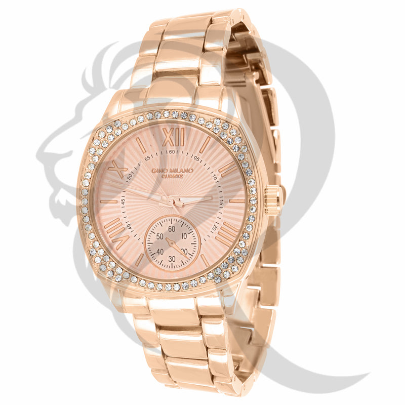 Rose Gold Tone 38MM Plain Gino Milano Watch