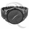 Black Gold Tone 45MM Round Face Men's IcedOut Watch