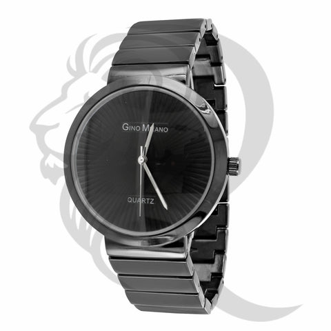 40mm all Black Gold Gino Milano Watch