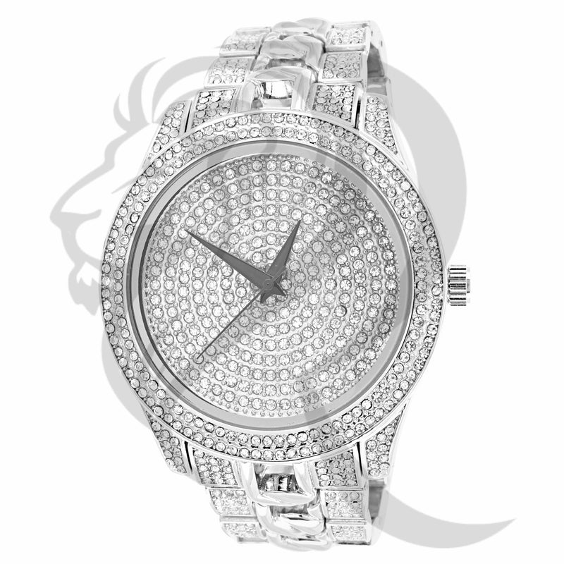 All IcedOut White Gold 48MM Men's Watch