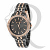 36MM Black & Rose Gold Watch