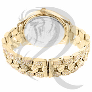 Yellow Gold Tone Icedout 48MM Watch