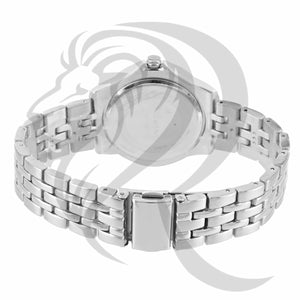 Plain White Gold IcedOut Bezel Watch