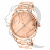 45MM Rose Gold Tone Plain Men's Watch