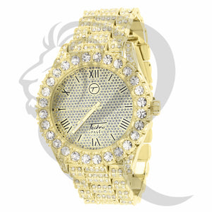 44MM Solitaire Stones IcedOut Men's Watch