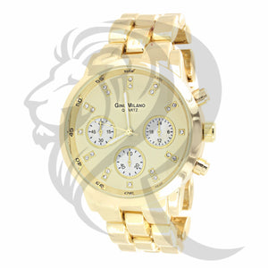 42MM Yellow Gold Dial Watch