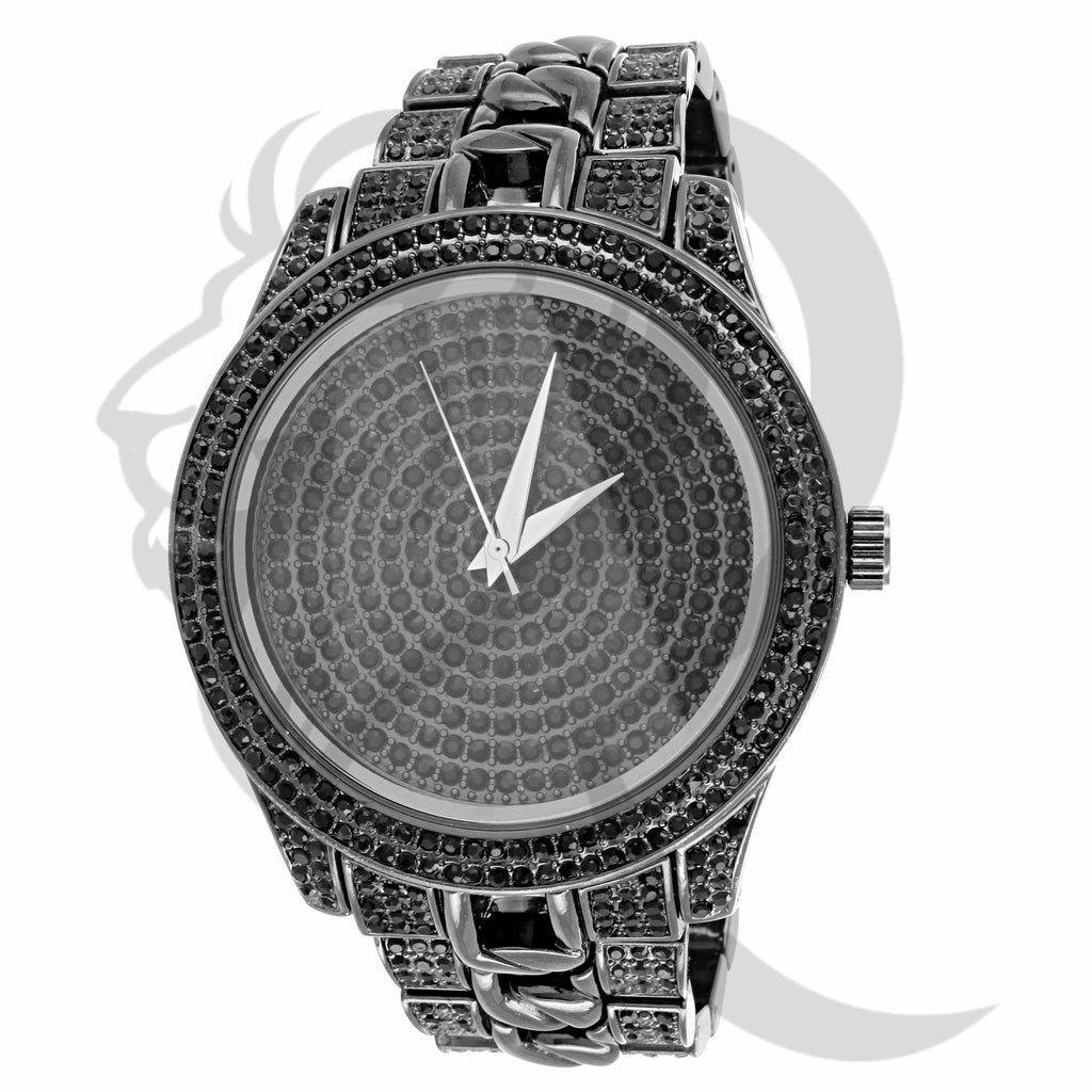 All Black, Black Stones Icedout 48MM Watch