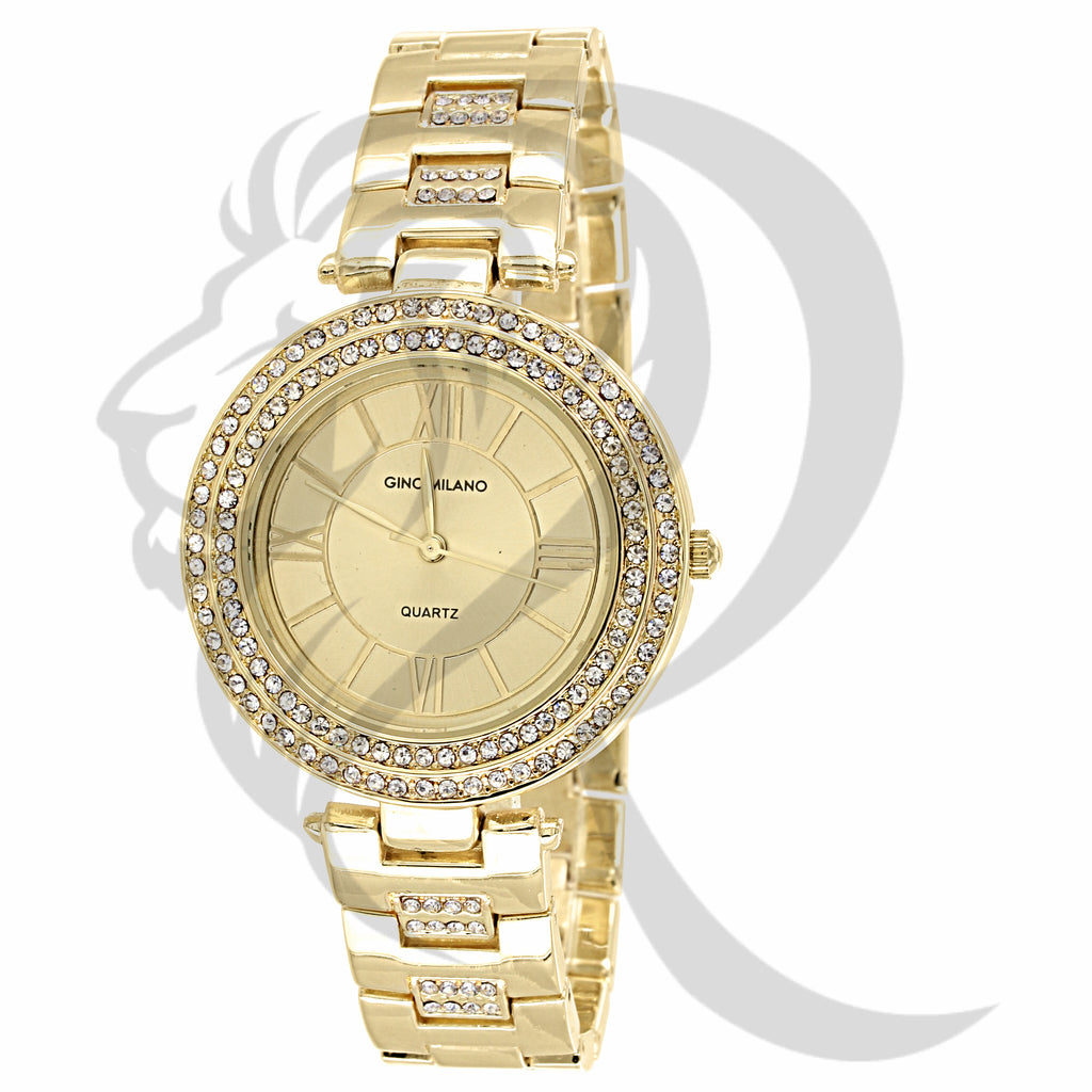 36MM ladies Yellow Tone Gino Milano Watch