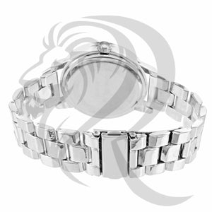42MM Plain White Gold Milano Watch