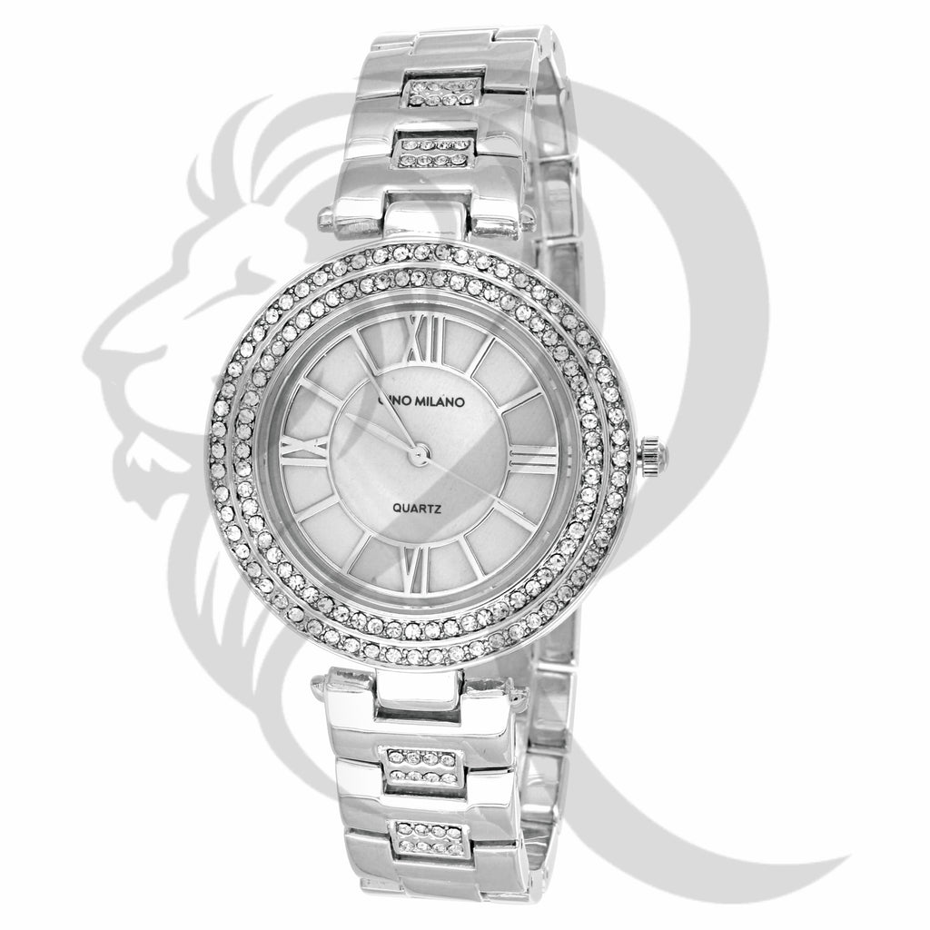 White 36MM Roman Numerals Dial Ladies Watch