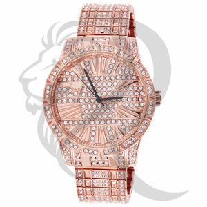 41MM Rose Gold Tone IcedOut Men's Techno Pave Metal Watch