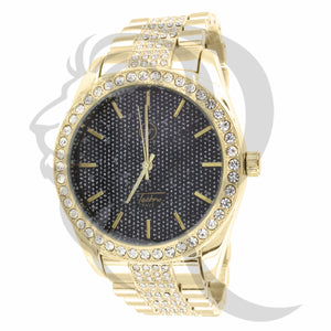 45MM Black Dial Yellow Gold Men's Watch