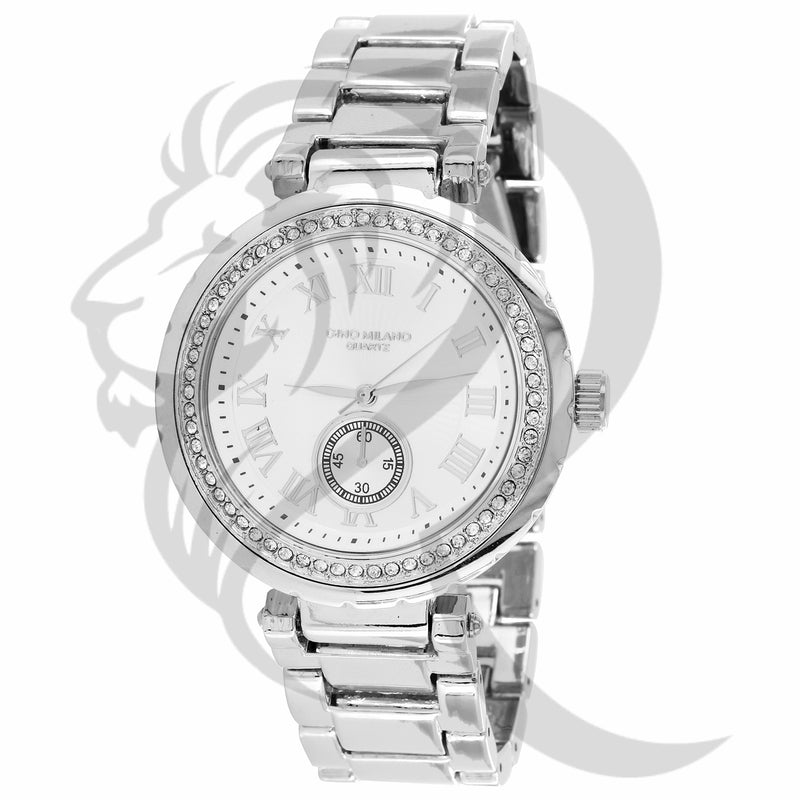 40MM Small Face Plain Metal Band Gino Milano Ladies Watch