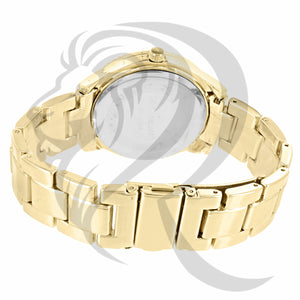 38MM Yellow Gold Plain Band Watch