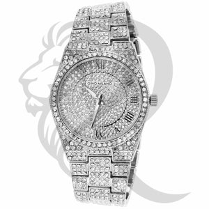 37MM Small Round Face IcedOut Gino Milano Ladies Watch