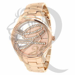 Rose Gold Icedout G Watch