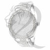 White Gold Tone IcedOut 45MM Men's Watch