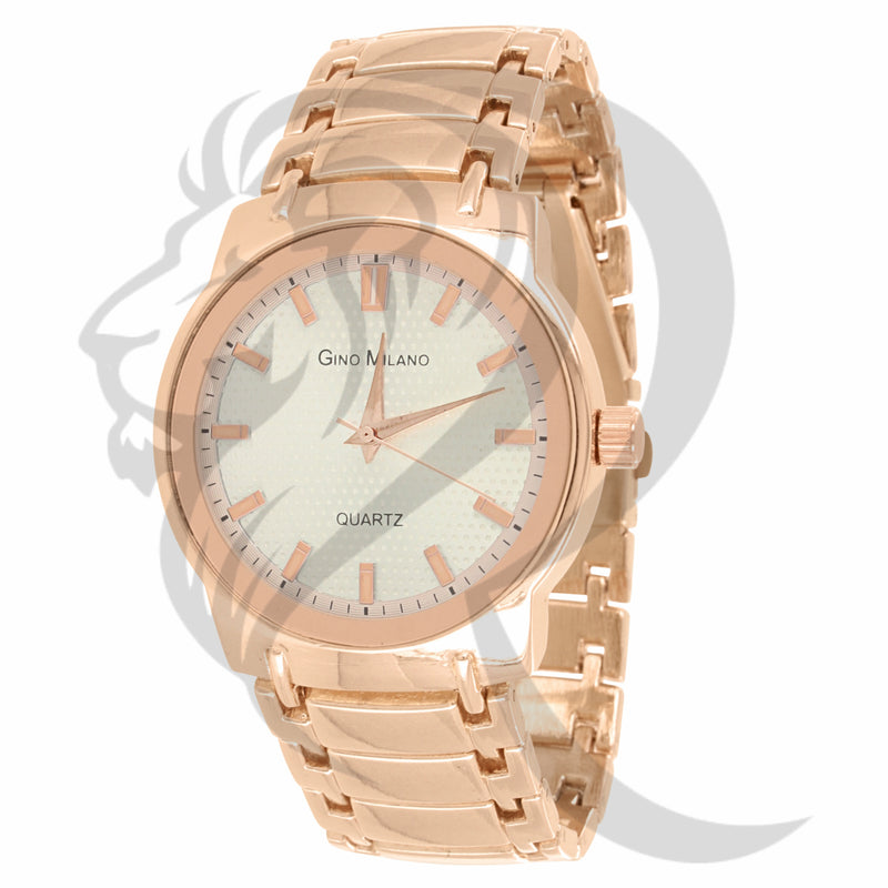 Rose Tone White Dial 41MM Men's Watch