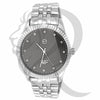 Black & White Plain 45MM Men's Watch