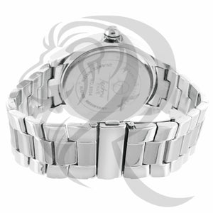 48MM 3 Row IcedOut Bezel Plain Metal Men's Watch