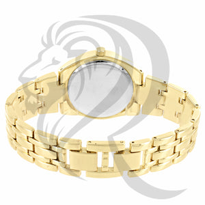 34MM Yellow Gold Tone Milano Watch