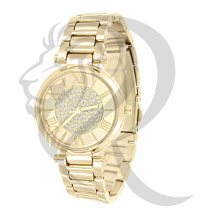 Plain IcedOut  Center 33MM Watch