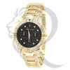 Black Dial Solitaire Stones 36MM Milano Watch