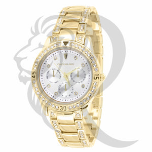 36MM White Dial IcedOut Gino Milano Watch
